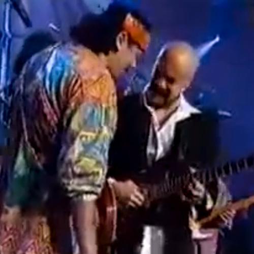 Pedro Andrea y Carlos Santana